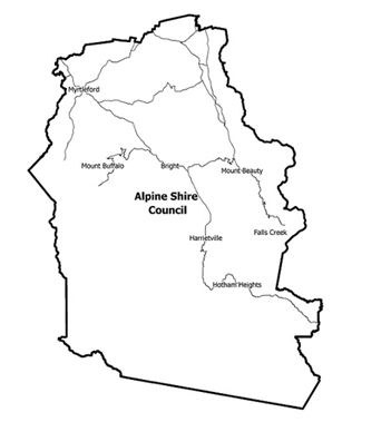 Image result for alpine shire council boundary